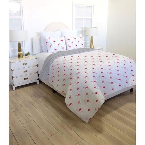 Flamingo Island 3-Piece Reversible Super Soft Microfiber Comforter Set
