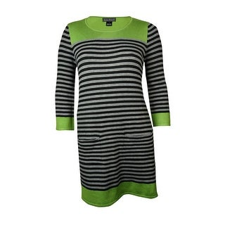 Jessica Howard Women's Pocket Striped Knit Sweater Dress