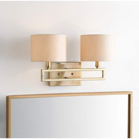 "SAFAVIEH Lighting Catena 2-light Catena Gold Sconce - 16.25""x7.875 ""x9.25"""