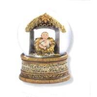 "4"" Joseph's Studio Religious Nativity Christmas Baby Jesus Water Globe - brown"