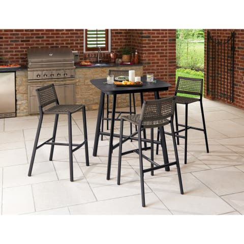 Eila 5-piece Carbon Patio Bar Table Set by Havenside Home