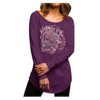 Harley-Davidson Women's Deception Palace Long Sleeve Raglan Shirt 5V36-HD0E