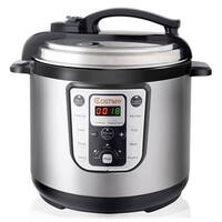 Costway 1250W 8 Quart Electric Pressure Cooker Programmable Multi-Use Stainless Steel - as pic