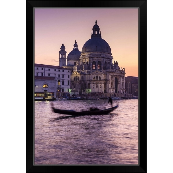 """Grand Canal and Chiesa di Santa Maria delle Salute"" Black Framed Print"