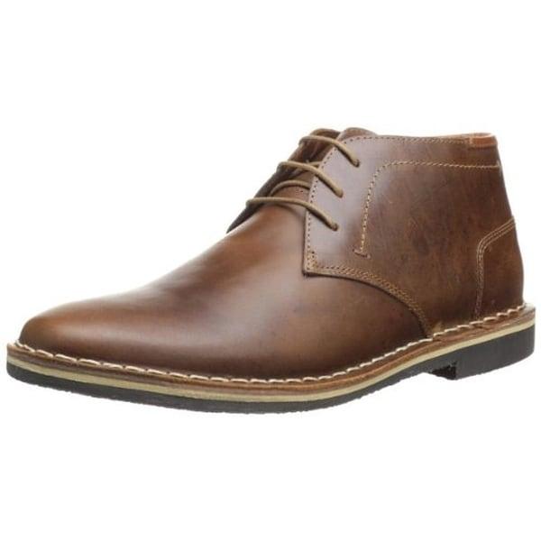 b3d9b1242f3 Shop Steve Madden Mens Harken Chukka Boots Leather Plain Toe - Free ...
