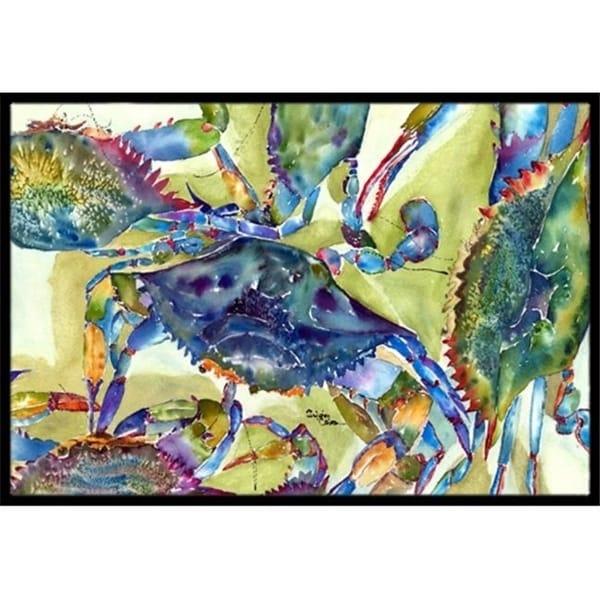 Carolines Treasures 8512JMAT 24 x 36 in. Crab All Over Indoor Or Outdoor Mat