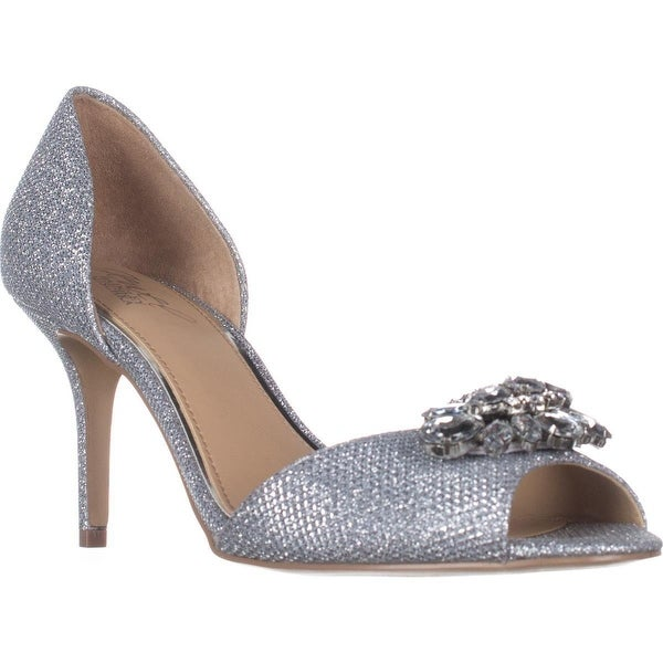 Jewel Badgley Mischka Hays Dress Sandals, Silver Glitter