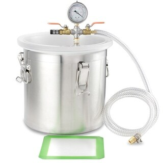Arksen 5-Gal Vacuum Degassing Chamber Resin Silicone Epoxy Metal Solvent, 280mm