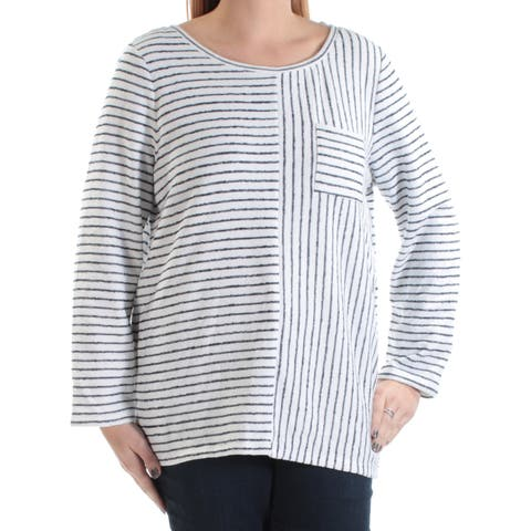 1272db6dea VINCE CAMUTO Womens Ivory Long Sleeve Jewel Neck Sweater Size  L