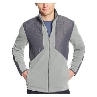 Calvin Klein CK Full-Zip Polar Fleece Jacket X-Large Coldfront Grey - XL