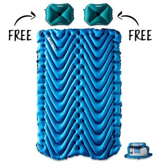 KLYMIT Static Double V Sleeping Pad w/ 2 Pillows X-Large Teal