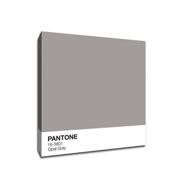 Opal Gray - Pantone - 16x16 Gallery Wrapped Canvas Wall Art
