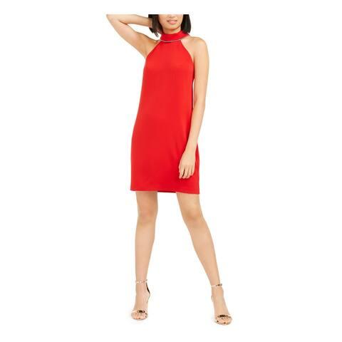 TRINA TURK Red Sleeveless Above The Knee Body Con Dress Size 10