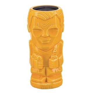 Star Trek: TOS Captain Kirk 16oz Geeki Tiki Mug, Yellow - Multi