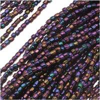Czech Tri-Cut Seed Beads 10/0 'Purple Iris' (1 Strand/360 Beads)