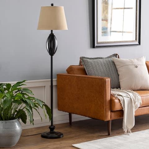 "Wayne Traditional Bronze 60.25-inch Floor Lamp - 60.25""H x 14""W x 14""D"