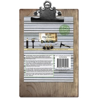 """Salvaged Clipboard-Weathered Wood 6""""X9"""""""