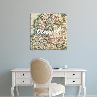 Easy Art Prints Studio W's 'Map Words IV' Premium Canvas Art