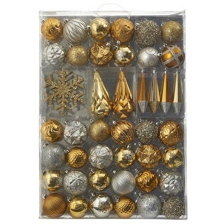 Link to Holiday Shatterproof, 52 Count Christmas Ornament Box, 80mm to 150mm Similar Items in Christmas Decorations