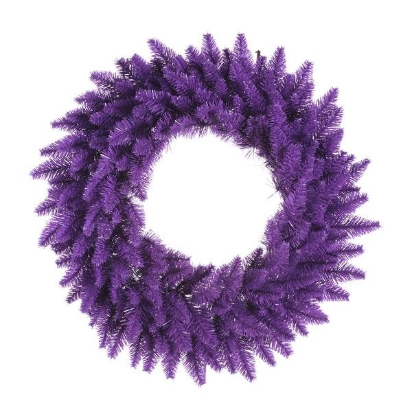 """30"""" Purple Wreath DuraL LED 100Prp 260T"""