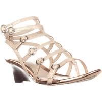 Elie Tahari Gladiator Wedge Sandals, Macrame/Rose - 7 us / 37.5 eu