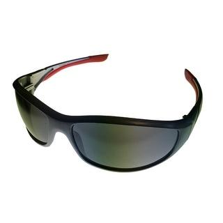 Timberland Sunglass Slate Grey, Solid Smoke Lens Plastic Sport Wrap TB7093 20C - Medium
