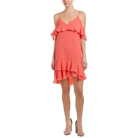 Parker Cold-Shoulder Slip Dress