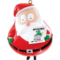 "3.5"" Carlton Cards Heirloom Humorous Missing Elf Christmas Ornament - Red"