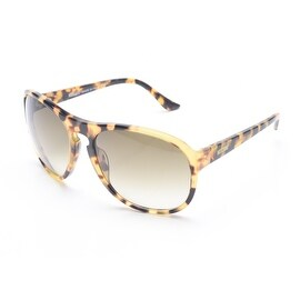 Moschino Women's Oversized Round Frame Sunglasses Light Tortoise - Small