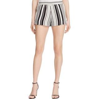 Aqua Womens Casual Shorts Striped Stretch