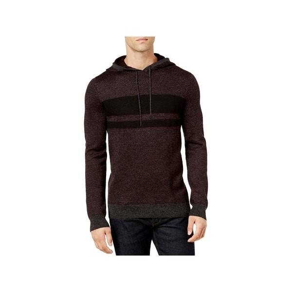 80a575688b Shop Calvin Klein Mens Full Zip Sweater Wool Blend Chest Stripe ...