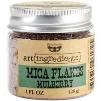 Finnabair Art Ingredients Mica Flakes 1oz-Mulberry - Red