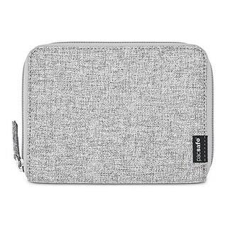 Pacsafe RFIDsafe LX150 - Tweed Grey RFID Blocking Zippered Passport Wallet