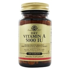 Solgar - Dry Vitamin A 5000 IU Tablets - 100