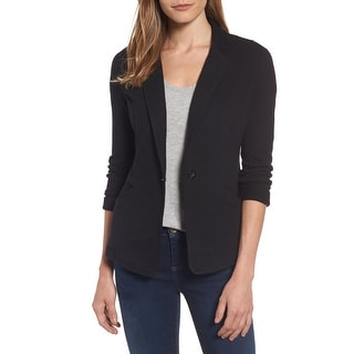 Link to Caslon Women's Jacket Black Size Large L Notch Collar Single Button Similar Items in Women's Outerwear