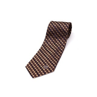 Versace Men Slim Silk Neck Tie CR8LSEB0740 0004 Brown Gold