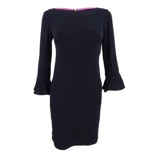 Jessica Howard Women's Petite Bell-Sleeve Sheath Dress - Black