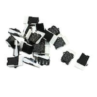 Unique Bargains 20PCS 60V 0.2A Black White Plastic 6 Pins Hook Switch Repair Parts for Telephone