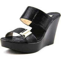 INC International Concepts Pandeh Womens Black Sandals