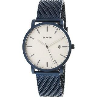 Skagen Men's Hagen SKW6326 Blue Stainless-Steel Japanese Quartz Fashion Watch