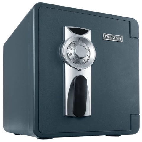 First Alert 2087F 1637 Cubic Inches Waterproof Fire Resistant Combination Safe - slate - N/A
