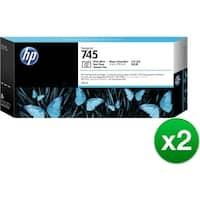 HP 745 300-ml DesignJet Photo Black Ink Cartridge (F9K04A)(2-Pack)