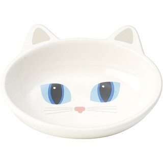 White - Petrageous Frisky Kitty Oval Saucer 5.3Oz