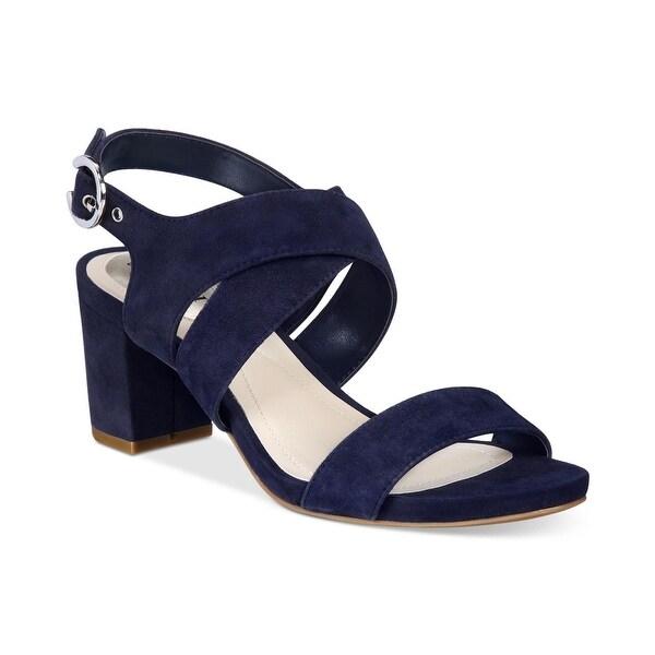 3d6a4d9fa6 Shop Alfani Womens Regann Leather Open Toe Casual Ankle Strap ...