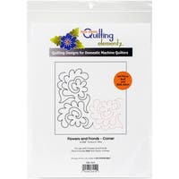 Quilting Creations Printed Tear Away Quilting Paper 4/Pkg-Flowers And Fronds-Corner