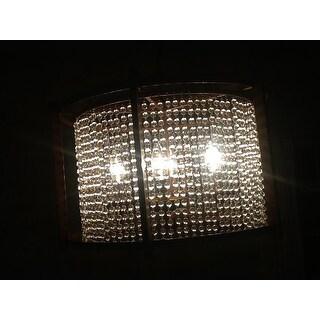 Dark Brown 4-light Crystal Pendant