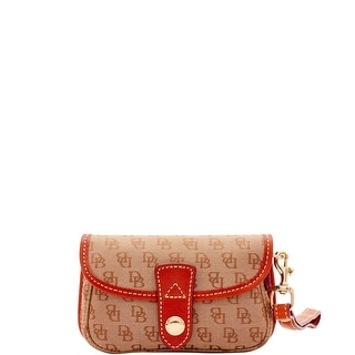 Dooney & Bourke Mini Signature Flap Wristlet (Introduced by Dooney & Bourke at $58 in Oct 2016) - b7 black