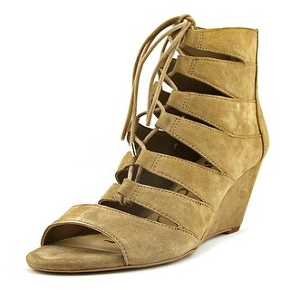 Circus by Sam Edelman Santina Women Open Toe Suede Tan Wedge Sandal