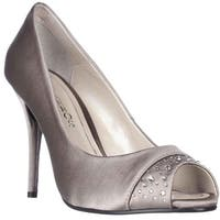 Caparros Odell Rhinestone Peep Toe Dress Pumps, Fawn