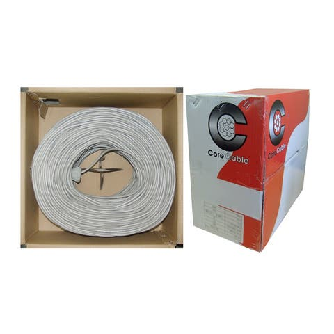 Offex Security and Alarm Wire, Gray, 18/4 (18AWG 4 Conductor), Stranded, CMR / Inwall Rated, Pullbox, 500 Feet